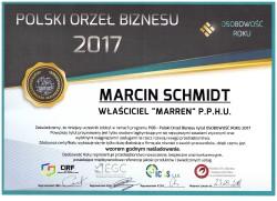 MARREN - certyfikat jednego z naszych partnerów.
